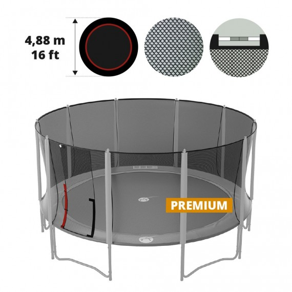 Premium 16ft trampoline net for 490 trampoline