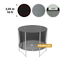 10ft trampoline net with straps for 6 posts