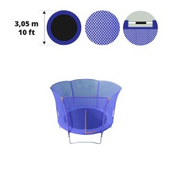 Filet textile pour trampoline Hop 300
