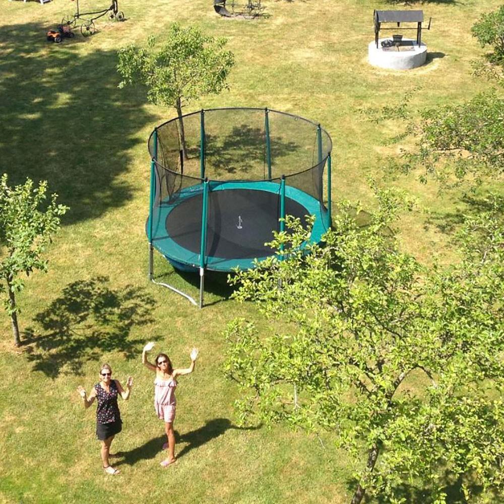 12ft booster trampoline with safety enclosure. Black Bedroom Furniture Sets. Home Design Ideas