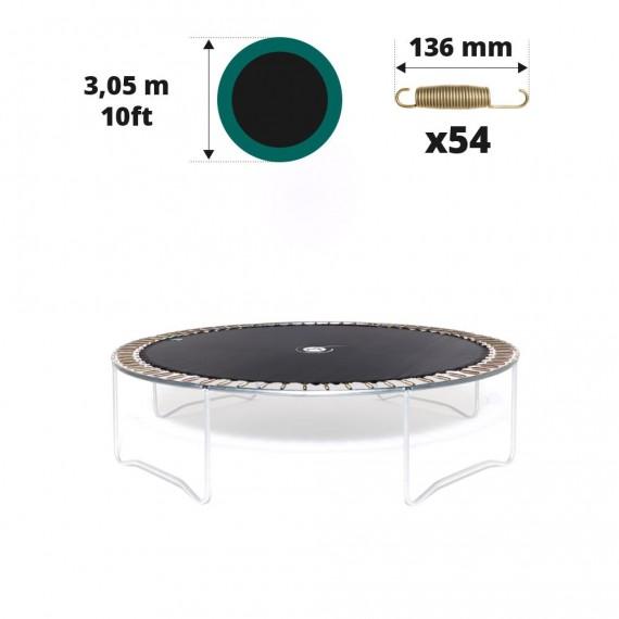 Toile de saut pour trampoline Ø 305 à 54 ressorts 136 mm