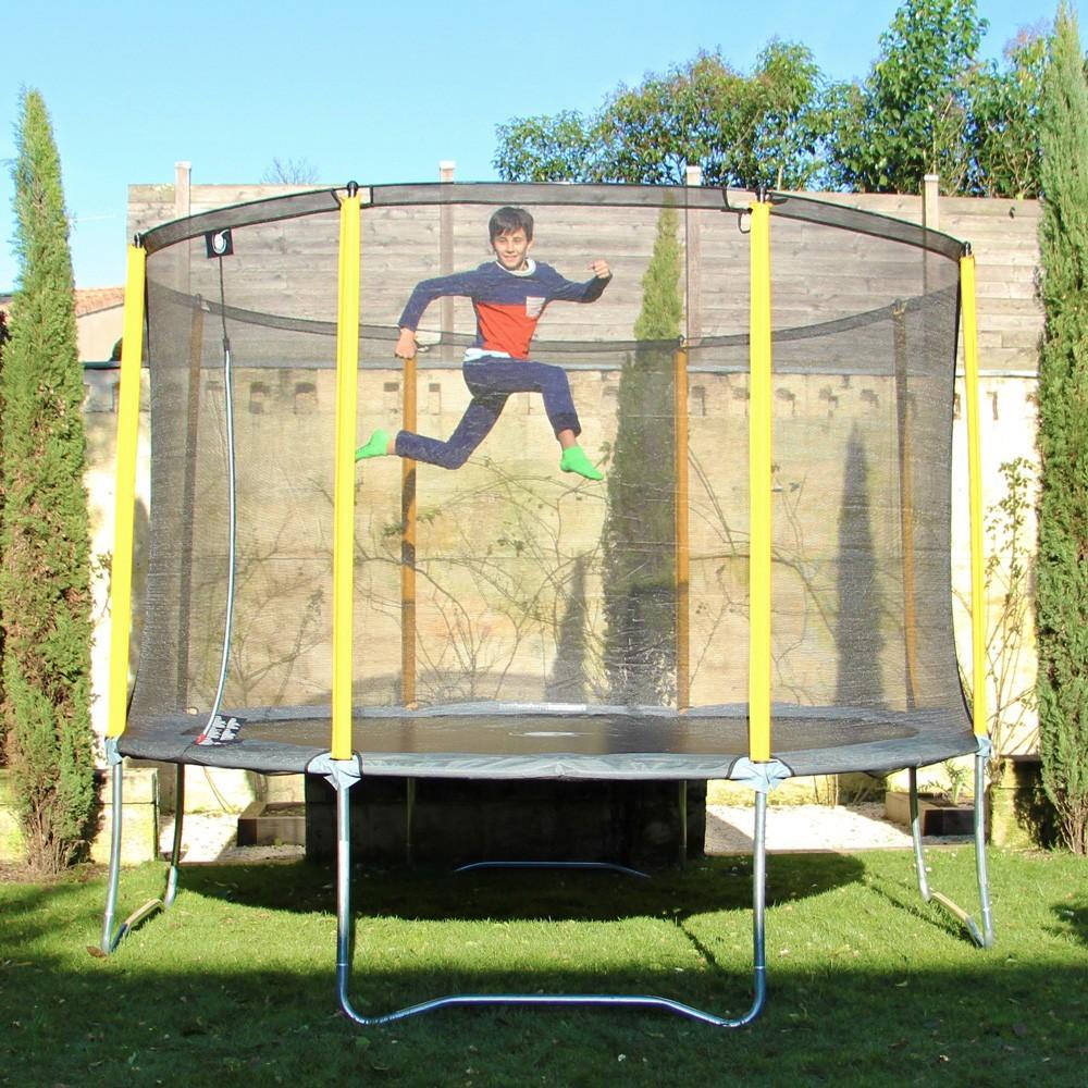 12 ft initio trampoline enclosure 360 france trampoline. Black Bedroom Furniture Sets. Home Design Ideas
