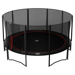 16ft Booster 490 trampoline with safety enclosure