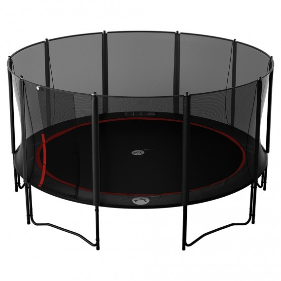 Trampoline Booster Black 490 avec filet Premium
