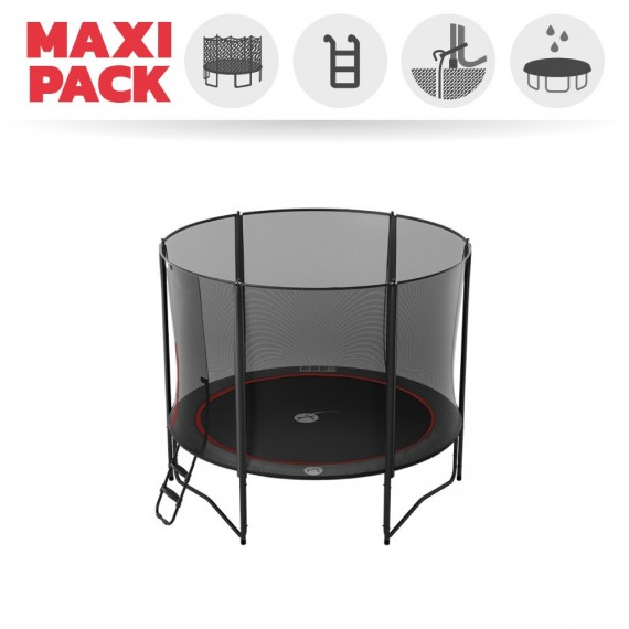 Trampoline Booster Black 300 avec filet Premium