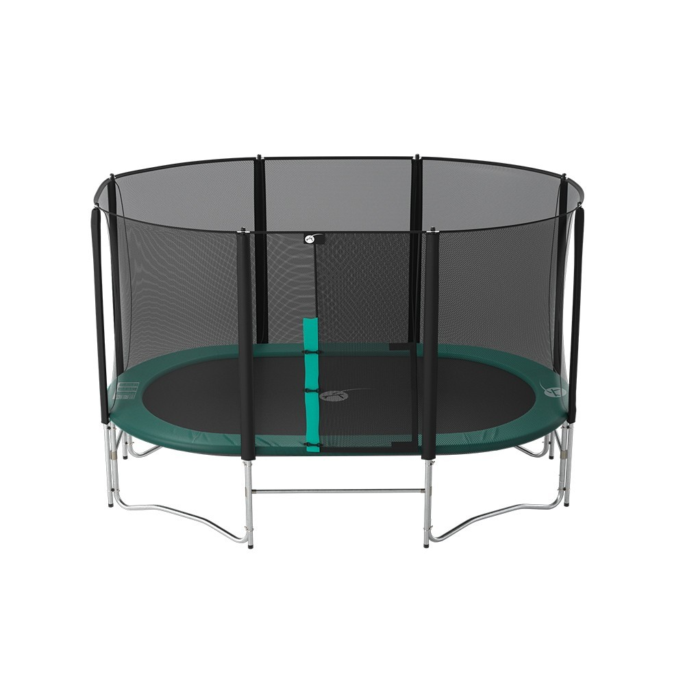trampoline ovalie 360 avec filet premium france trampoline. Black Bedroom Furniture Sets. Home Design Ideas