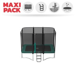 Maxi pack Apollo Sport 300 trampoline with safety enclosure + ladder + anchor kit + cover