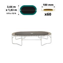 Toile de saut Ovalie 360 – 60 ressorts 180 mm