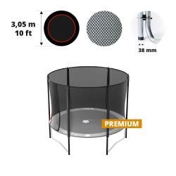Filet avec 6 montants pour trampoline Ø 300 Premium