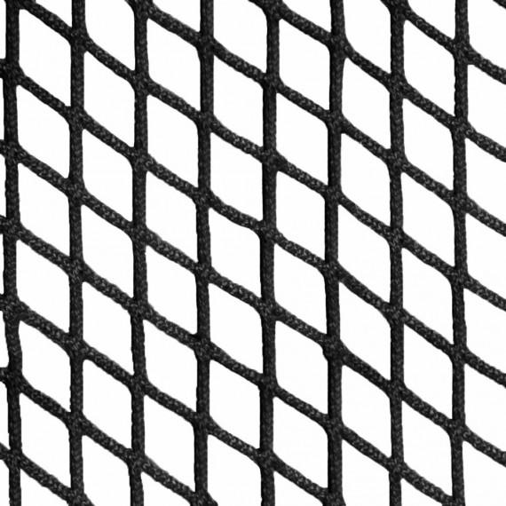 Filet d'habitation mailles tressées 30 mm noir - Ralingue