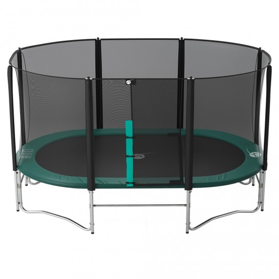 16ft Ovalie 490 Trampoline Trampoline With Enclosure And