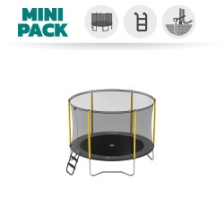 Basic Pack 8ft Initio Trampoline with enclosure 250 + Ladder + Anchor Kit
