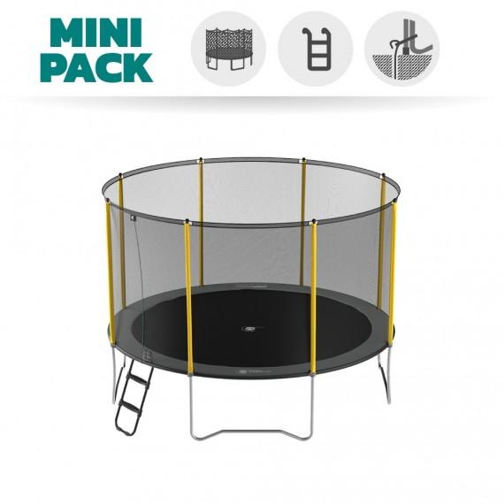 Pack Basic Trampoline Initio 360 avec filet + Kit d'ancrage + Échelle