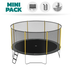 Basic Pack 14 ft. Initio trampoline 430 with enclosure + ladder + anchor kit