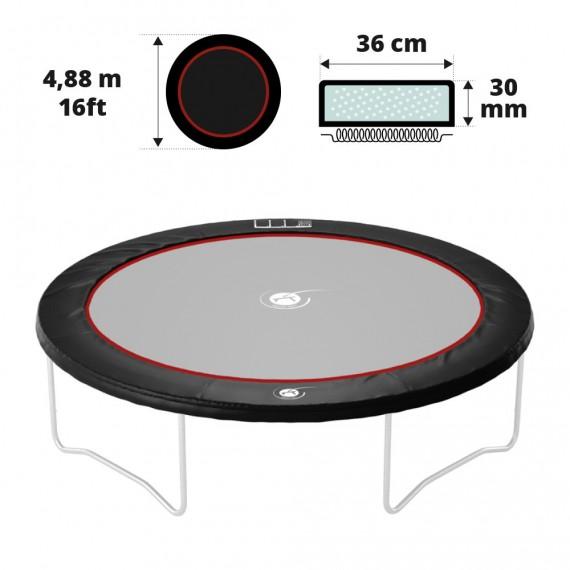 Coussin de protection noir 490 30 mm / 41 cm