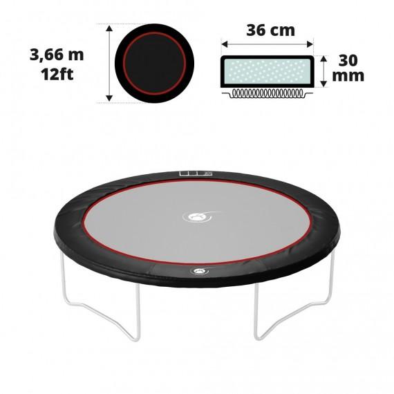 Coussin de protection noir 360 30 mm / 41 cm