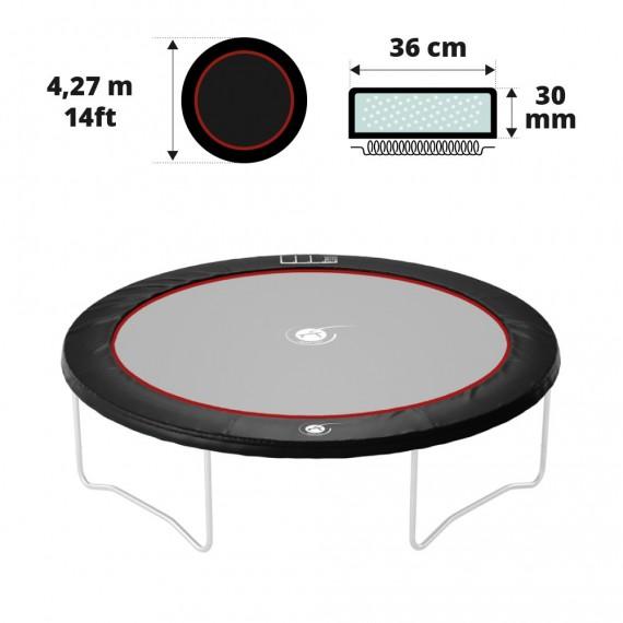 Coussin de protection noir 430 30 mm / 41 cm