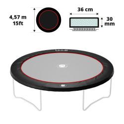 Coussin de protection noir 460 30 mm / 41 cm
