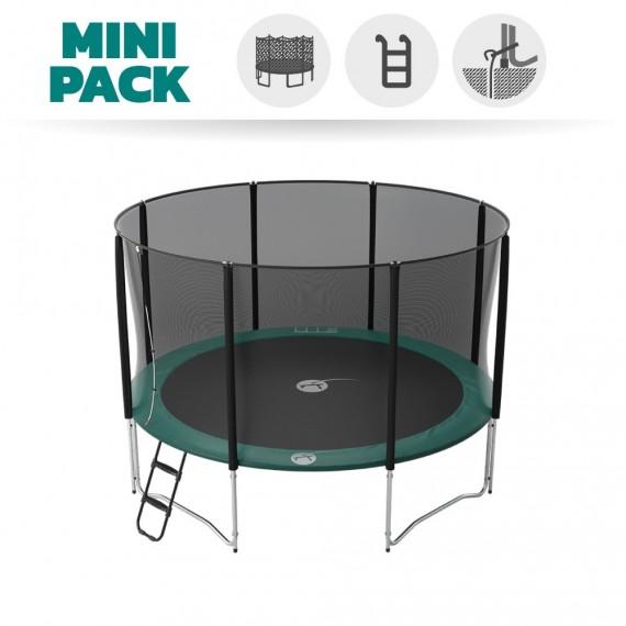 Basic pack 13ft Jump'Up 390 trampoline with safety enclosure + ladder + anchor kit