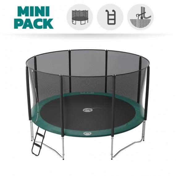 Mini Pack Trampoline Jump'Up 430 avec Filet + Échelle + Kit d'ancrage