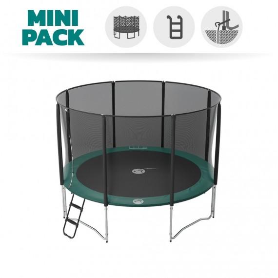Basic pack 12ft Jump'Up 360 trampoline with safety enclosure + ladder + anchor kit