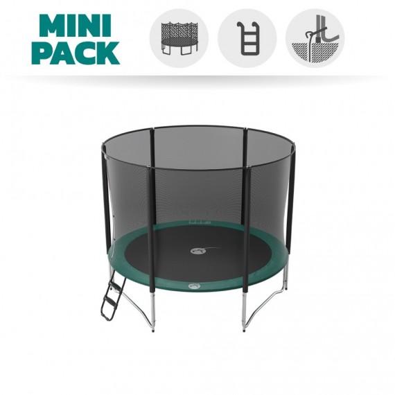 Mini Pack Trampoline Jump'Up 300 avec Filet + Échelle + Kit d'ancrage