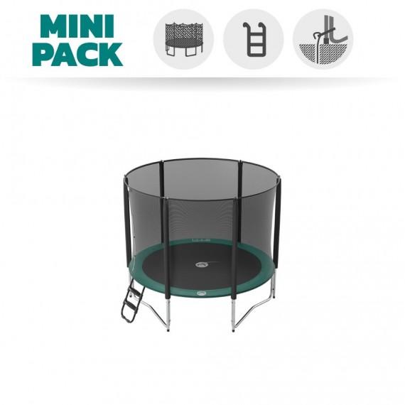 Mini Pack Trampoline Jump'Up 250 avec Filet + Échelle + Kit d'ancrage