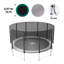Filet avec 10 montants pour trampoline Ø 457
