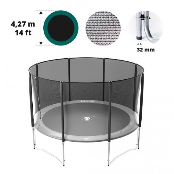 Filet avec 8 montants pour trampoline Ø 427