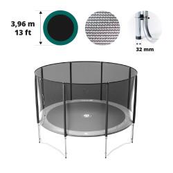Filet avec 8 montants pour trampoline Ø 396