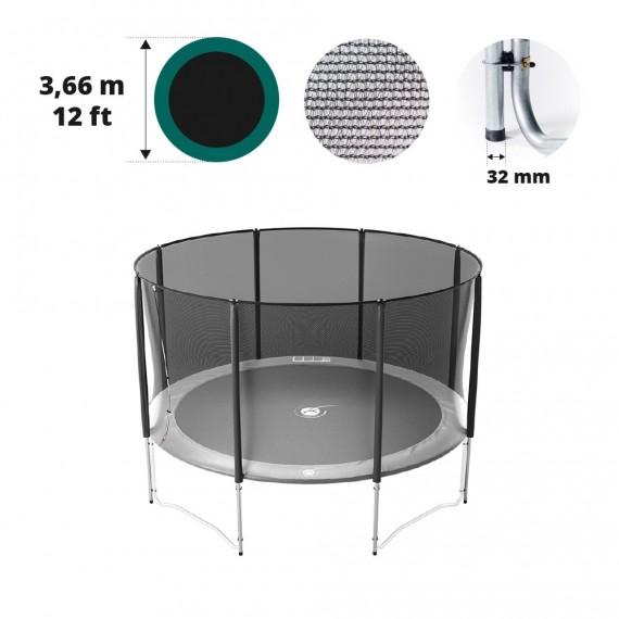 Filet avec 8 montants pour trampoline Ø 366