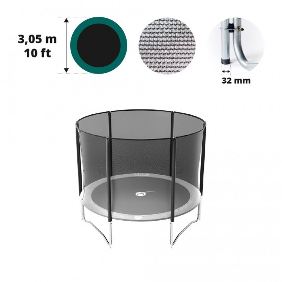 Filet avec 6 montants pour trampoline Ø 305