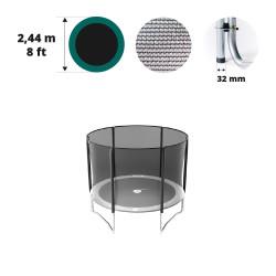 Filet avec 6 montants pour trampoline Ø 244