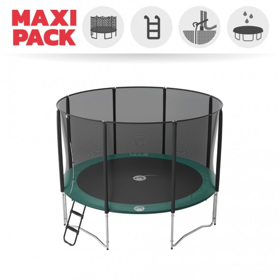 Maxi Pack Jump'Up 360 avec Filet + Échelle + kit d'ancrage + Housse Premium