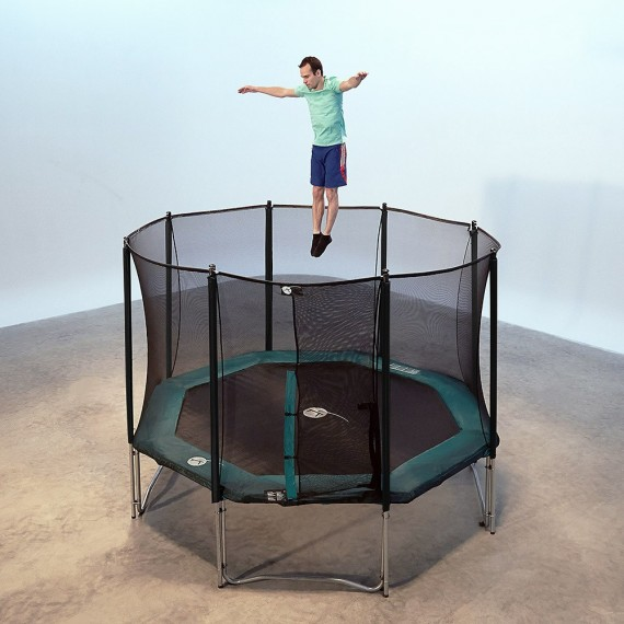 Octagonal 12ft Waouuh 360 Trampoline With Safety Enclosure