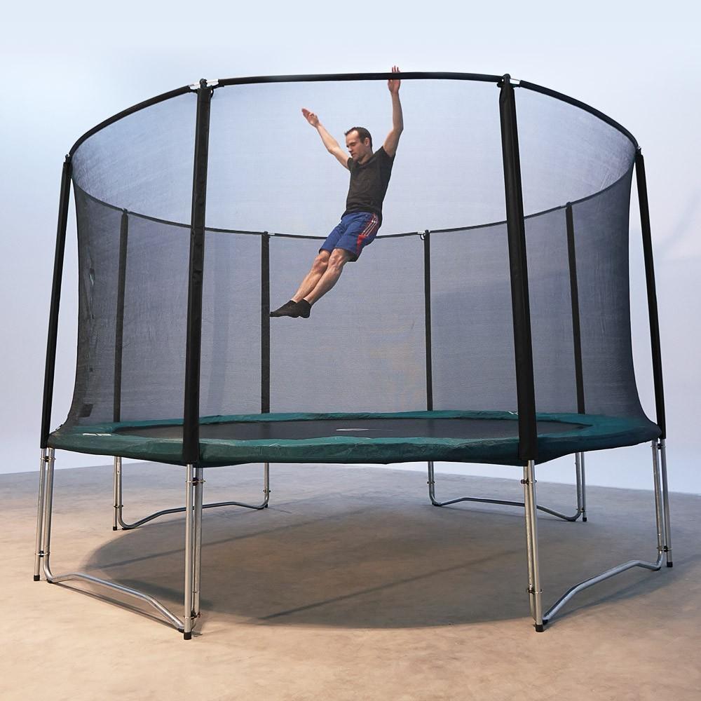 trampoline de jardin jump up 430 avec filet de protection. Black Bedroom Furniture Sets. Home Design Ideas