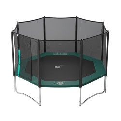 14ft Waouuh 430 trampoline with safety enclosure