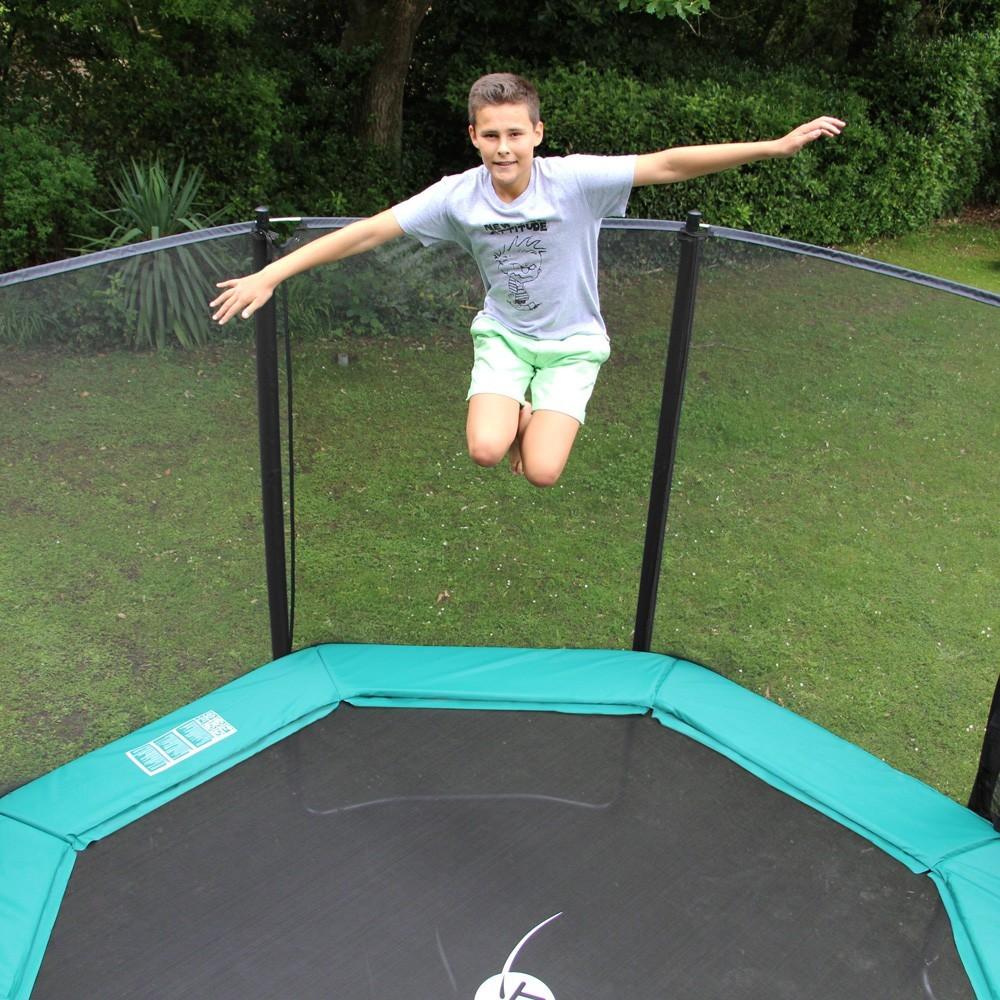 trampoline octogonal waouuh 430 avec filet de protection. Black Bedroom Furniture Sets. Home Design Ideas