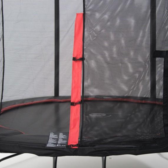 Trampoline Booster Black 390 avec filet Premium