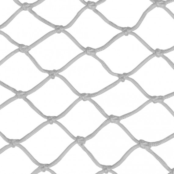 Suspended house net: 50 mm, knotted, white netting