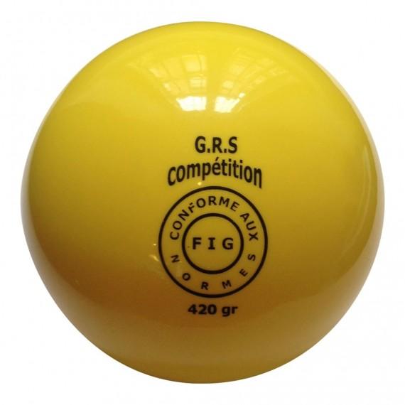Ballon GR jaune 420 gr, normes FIG