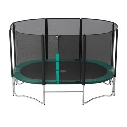 14ft Ovalie 430 trampoline with safety enclosure