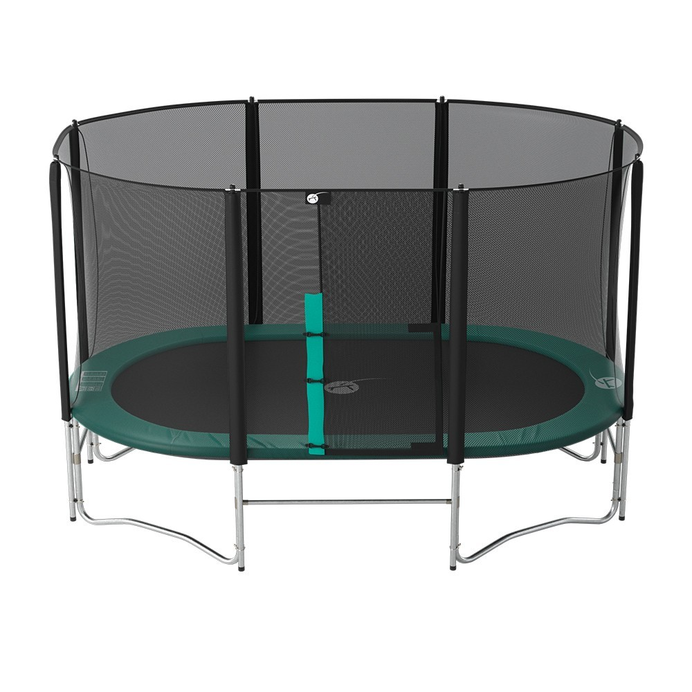 14ft Basic Trampoline Pad: 14ft Oval 430 Family Trampoline With Safety Enclosure And