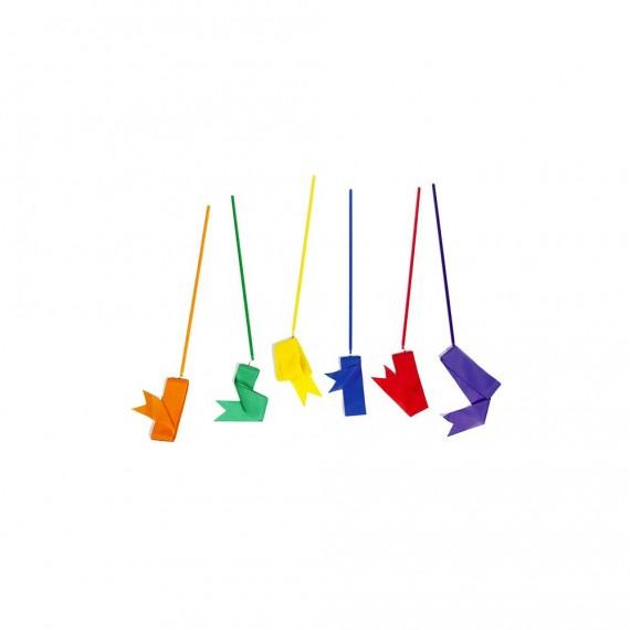 Ruban GR orange, vert, jaune, bleu, rouge et violet