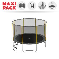 Maxi Pack Trampoline Initio 360 avec Filet + Échelle + Kit d'ancrage + Housse