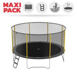 Maxi Pack Trampoline Initio 430 avec Filet + Échelle + Kit d'ancrage + Housse
