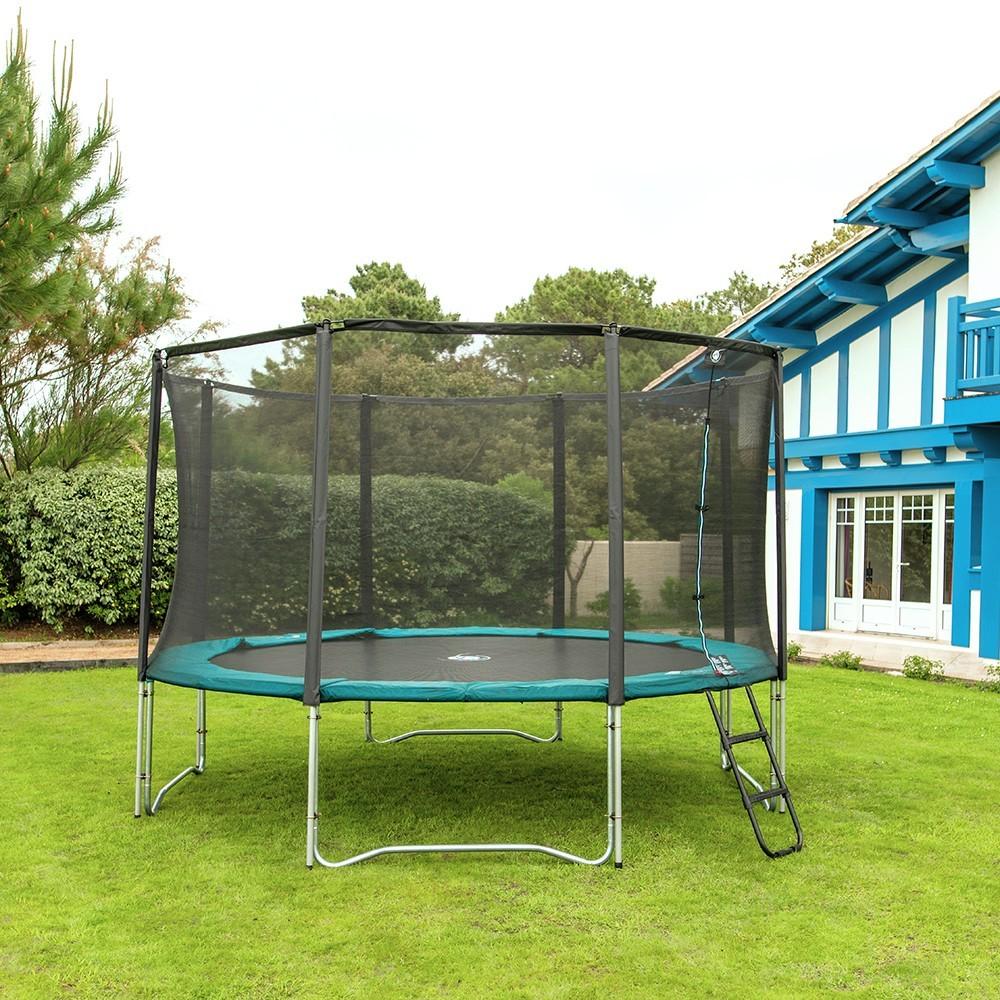 pack jump up 390 trampoline avec filet. Black Bedroom Furniture Sets. Home Design Ideas