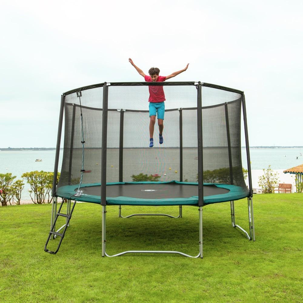 pack trampoline jump up 390 filet chelle kit d ancrage housse. Black Bedroom Furniture Sets. Home Design Ideas