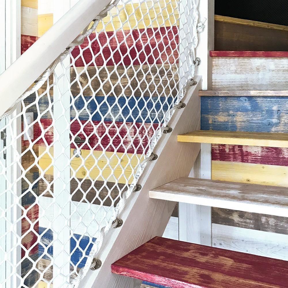 filet de s curit pour escalier ext rieur. Black Bedroom Furniture Sets. Home Design Ideas