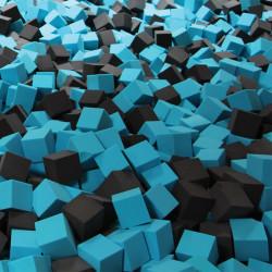 Cubes de mousses standards colorés